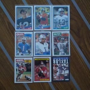 Hall of Famers 9 Card LOT Montana, Rice, Elway, LT